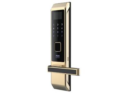 ZigBee智能門鎖-SL311   配有超大液晶顯示屏,超靈敏觸摸按鍵,超快速指紋識別,C級鎖芯;支持7個密碼,70個指紋;當開鎖時,開鎖信息遠程推送到手機,并且能通過不同指紋、密碼識別用戶,隨時可以掌握家人回家信息。