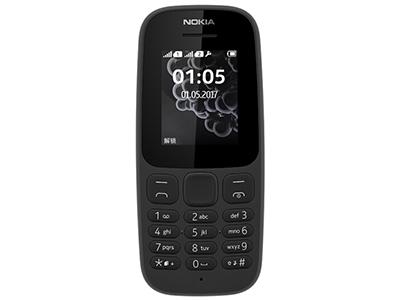新诺基亚 105 直板按键 移动联通2G手机 双卡双待 老人手机 学生备用功能机 双卡新105  黑/蓝/白