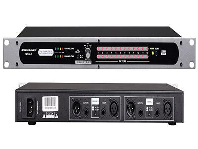 森海動力 SR-SL2 反饋抑制器   全自動反饋抑制器本專業反饋抑制器采用12個自動檢測濾波器。這些濾波器經由前面板上的直觀的用戶界面全部可快捷獲得。濾波器的自動釋放特性是依次自動削除不再需要使用的濾波器,從面優化聲音。讓用戶盡可能地削除聲反饋。為固定安裝系統與現場使用提供全部和必須的控制,是任何現場擴聲系統