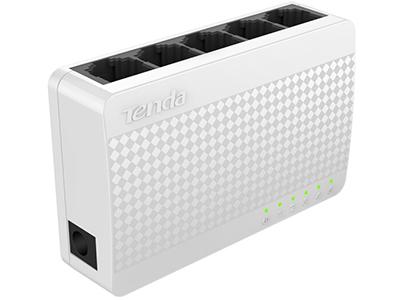 腾达 S105 5口百兆交换机 4口家用宿舍交换器 监控网络网线分线器 分流器 兼容摄像头