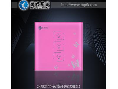 水晶之恋-智能开关(炫雅红)