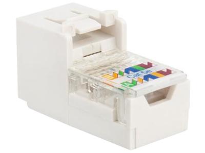 TCL罗格朗网络模块 单口双口三口四口电话电脑信息面板网线插座 超5类免打线非屏蔽RJ45模块 632701