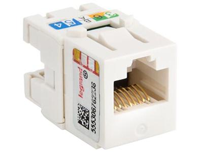 TCL罗格朗网络模块 单口双口三口四口电话电脑信息面板网线插座 超五类打线式非屏蔽RJ45模块 632700-2