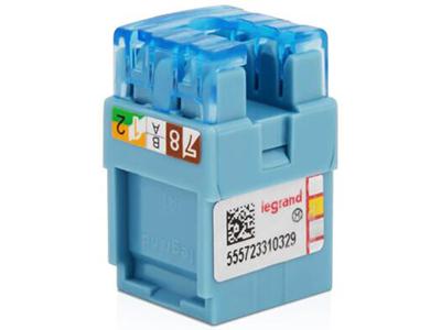 TCL罗格朗网络模块 单口双口三口四口电话电脑信息面板网线插座 六类打线式非屏蔽RJ45模块 632707