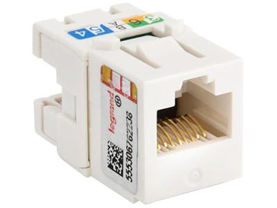 TCL罗格朗网络模块面板 单口双口网线电话电脑语音插座 超五类打线式电脑模块632700-2