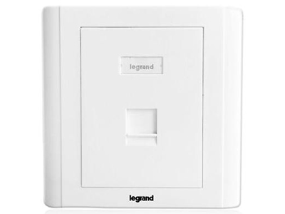 TCL罗格朗网络模块 单口双口三口四口电话电脑信息面板网线插座 单口电话电脑面板(不含模块)632817