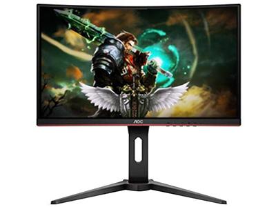 AOC C27V1QD  产品类型:LED显示器,广视角显示器,曲面显示器 产品定位:商务办公 屏幕尺寸:27英寸 面板类型:VA 最佳分辨率:1920x1080 可视角度:178/178° 视频接口:D-Sub(VGA),HDMI,Displayport