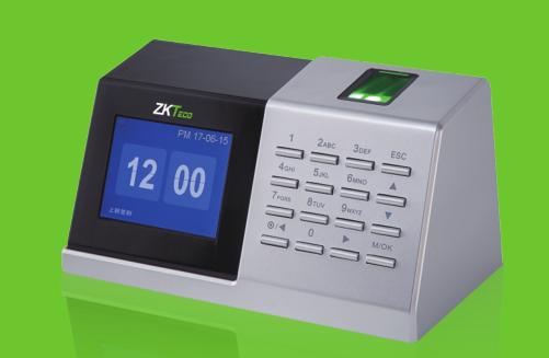 中控智慧ZM108桌面考勤机彩屏 T9输入法 免软件