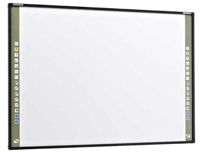 日立 FX-79E1  规格(英寸): 83 感应区尺寸(英寸): 80 外边框尺寸(mm)(不含笔架): 1710*1217*44.5 感应方式: I-AIST扇形红外扫描技术 书写方式: 笔或手指 快捷键: 两侧 响应速度: ≦6ms 光标速度:180P/S 功耗: ≦1W 画面比例: 4:3 通信方式: USB 适合操作系统: Windows 2000 /XP/2003/Vista/Win7/win8