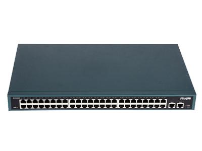锐捷 RG-S1850G 48个10/100Mbps端口+2个10/100/1000Mbps端口,机架式千兆增强型非网管型交换机
