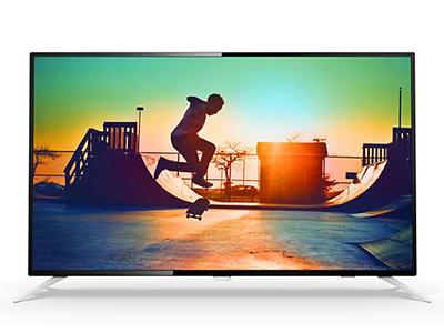 飞利浦55PUF6132/T34K智能硬屏液晶电视 送壁挂
