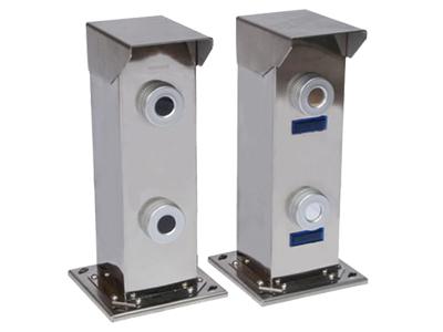 二光束激光对射(金刚系) 距离 0-500米 304不锈钢 报警源 任一光束遮断报警或者两光束同时遮断报警