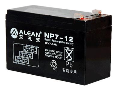 艾礼安 报警主机专用 电池容量:12V/7A小时 重量:2.45KG 尺寸:150*65*100mm