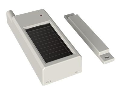 宁波恒博 光能无线门磁 太阳能(室内灯光)供电设计,无需外接电源线,2到5年无需更换电池 具有故障自检(如失效、低电等),并向主机报告的功能