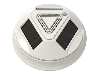 宁波恒博 太阳能全无线光电烟感探测器 太阳能(室内灯光)供电设计,无需外接电源线,3到5年无需更换电池 光学迷宫,光电探测方式,吸顶安装