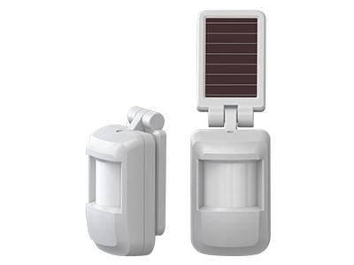 宁波恒博 太阳能无线被动红外探测器 太阳能(室内灯光)供电设计,无需外接电源线,2到8年无需更换电池 两级灵敏度可调、自动温度补偿,能根据环境温度的变化自动调整灵敏度,降低误报