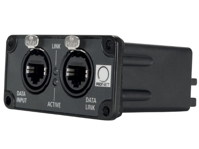 RCF RDNET IN-OUT PLUG 控制插頭  安裝AC RD-NET IN / OUT插頭模塊后,可以使用RD Net軟件遠程控制和監控RCF TT +系統