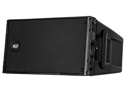 """RCF HDL 10-A 有源線陣音箱 1400瓦峰值功率 - 700瓦RMS 2 X 8""""低頻單元 最大聲壓級為133 DB 65 HZ- 20 KHZ頻率響應"""