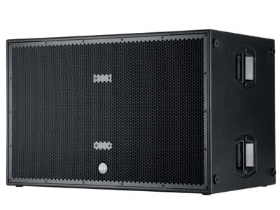 "RCF SUB 8006-AS 超低頻有源音箱 5000瓦峰值功率 - 2500瓦RMS 2 X 18""低頻單元 30 HZ - 120 HZ頻率響應 最大聲壓級為141 DB"