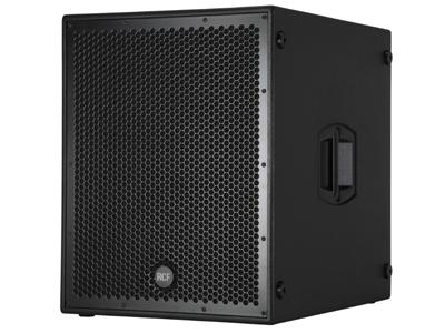 "RCF SUB 8004-AS 超低頻有源音箱 2500瓦峰值功率 - 1250瓦RMS 18""低音喇叭,4.0""音圈 30 HZ - 120 HZ頻率響應 最大聲壓級為136 DB"
