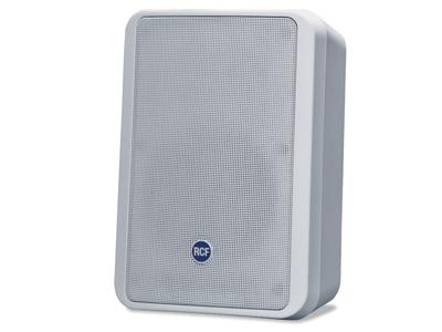 "RCF MR 44T 兩路反射式音箱60 W帶變壓器 高品質尋呼和音樂再現的理想選擇 低阻抗(4Ω - 60W)或100V工作模式 傳感器LF 5"" - HF 0.5""恒定指向性高音揚聲器 內置低電感無源分頻器,具有高頻動態保護,低音反射@ 65HZ"
