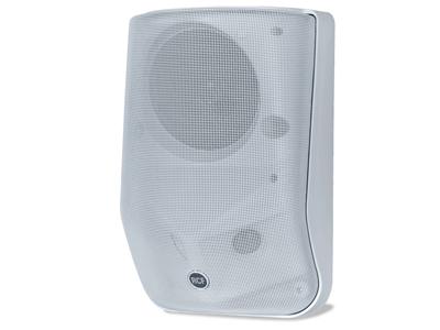 RCF MQ 60H 掛壁兩分頻音箱 2 x 1.0''圓頂高頻喇叭, 5.0 ''低頻喇叭 最大輸出功率120 W 旁路配置輸入16Ω,輸出功率60 W RMS 低音揚聲器和高音揚聲器的動態保護