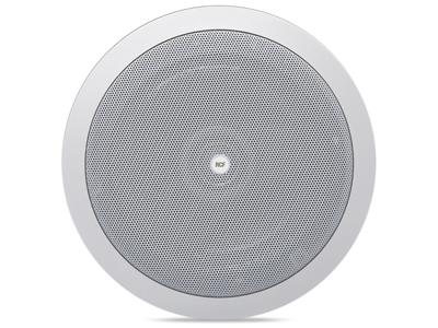 RCF PL 8X 吸頂音箱 音樂功率/ RMS:40 / 20W 8英寸低音單元,帶同軸高音揚聲器 低阻抗(8Ω)或100V 具有球頂高音揚聲器的雙向揚聲器系統推薦用于高級語音和背景音樂再現