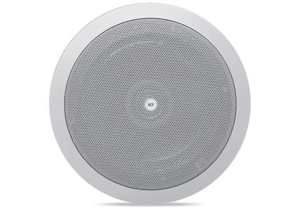 RCF PL 6X 吸頂音箱 音樂功率/ RMS:24 / 12W 6英寸低音單元,帶同軸高音揚聲器 低阻抗(8Ω)或100V 具有球頂高音揚聲器的雙向揚聲器系統推薦用于高級語音和背景音樂再現