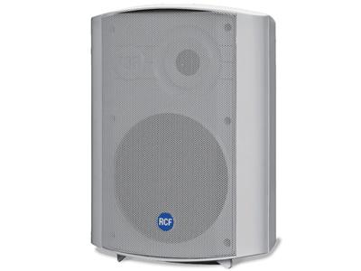 "RCF DM 61 兩分頻湊型音箱 低音單元6""與聚酯薄膜錐形高音揚聲器 程序/額定功率:50 / 25W 內置多脈沖變壓器,用于恒壓系統 機身采用自熄性復合材料"
