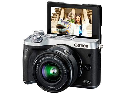 佳能 微单 EOS M6 (15-45镜头银色套机)(2420万像素 触控翻转LCD 全像素双核对焦)