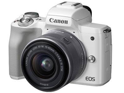 佳能微单 EOS M50(15-45镜头白色套机)(DIGIC 8处理器 2410万像素 全像素双核对焦 旋转触控LCD)