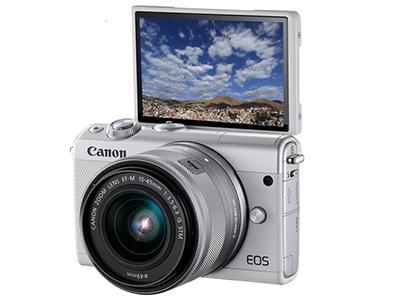 佳能微单 EOS M100 (15-45镜头白色套机)(2420万像素 触控翻转LCD 全像素双核对焦)