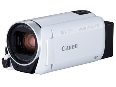 佳能 HF R806 摄像机 白色 (高清数码摄像机 家用专业DV 旅游录像机 57倍长焦防抖 儿童/会议记录仪 拍快手视频)