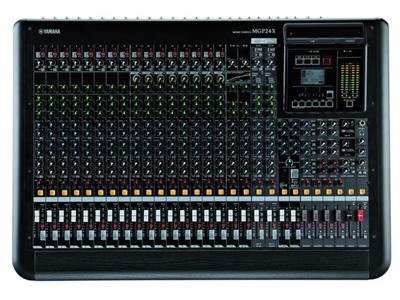 """雅马哈 MGP24X 模拟调音台 """"24通道高品质数模结合型调音台 16路话筒输入,带有 48V幻象供电,每通道带有HPF 24个线路输入 (16个单声道和 4个立体声) 6个AUX发送 + 2个FX发送 4 GROUP母线 + ST母线 2 Matrix 输出 1 个单声道输出 录音棚〜分布式A类 """"D-PRE""""话放, 内部配置复合晶体管倒相电路 具音乐韵味的 X-pressive EQ功能源于Yamaha久负盛名的VCM技术 专业单旋钮压缩器,带有LED指示灯 双重数字效果处理器:REV-X和Cla"""
