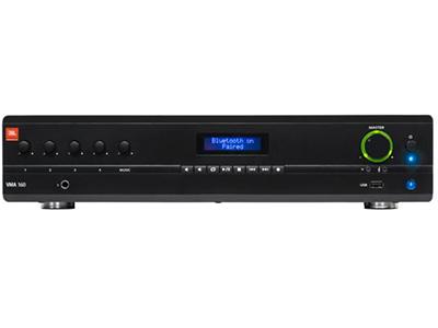 JBL  NVMA160  背景音乐混合功率放大器 • 5 个输入和 1 个输出,60 W 功率 • 100V 和 70V 输出,或 4Ω/8Ω