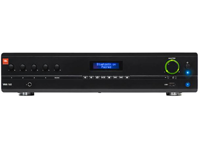 JBL NVMA1120 背景音乐混合功率放大器 • 5 个输入和 1 个输出,120 W 功率 • 100V 和 70V 输出,或 4Ω/8Ω