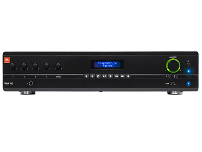 JBL NVMA1240  背景音乐混合功率放大器 • 5 个输入和 1 个输出,240 W 功率 • 100V 和 70V 输出,或 4Ω/8Ω