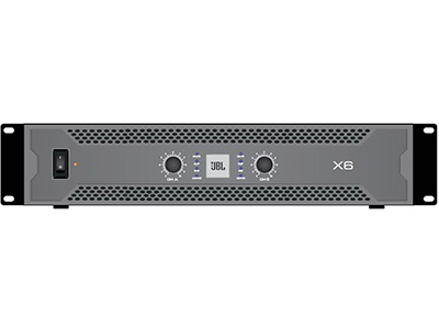 "JBL X6 功率放大器 -模拟 ""8Ω立体声输出功率:600Wx2 ;频率响应: 20- 20kHz 净量:15.5kg; 体积:483mmx378mmx89mm"""
