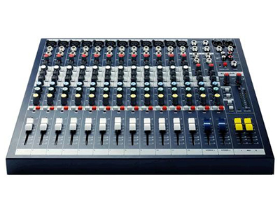 Soundcraft  EPM12 12路模拟调音台 6MIC、LINE输入 超线性的 GB30 话筒前置放大器 2 个立体声输入2 路辅助输出,全部可用开关切换到推子前或推子后内部电源供电简单的机架安装 (选购件)