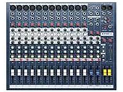 Soundcraft EPM8 8路模拟调音台 8MIC、LINE输入 超线性的GB30话筒前置放大器2个立体声输入2路辅助输出 全部可用开关切换到推子前或推子后 内部电源供电简单的机架安装(选购 件)