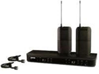 舒尔 BXL188CVL 无线麦克风 -双领夹 BLX88双通道无线接收机; 每个频段可兼容的系统数量: 12 自动设置功能: 频道/组扫描音频参考压缩扩展: 是 天线: 1/4波长天线 天线选项: 是