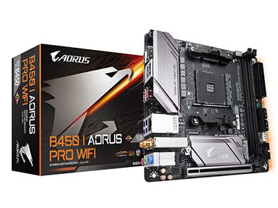 技嘉 B450 I AORUS PRO WIFI 台式机电脑游戏主板 AM4接口迷你板