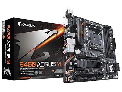 技嘉 B450 AORUS M 台式机电脑主板 AM4接口游戏主板