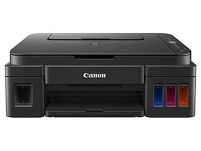 佳能G2810  产品类型:喷墨多功能一体机 涵盖功能:打印/复印/扫描 最大处理幅面:A4 耗材类型:一体式墨盒 黑白打印速度:文档,ESAT/单面:约8.8ipm