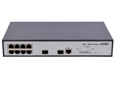郑州聚豪 河南总代理 华三(H3C) LS-S5110-10P-SI H3C S5110-10P-SI 以太网交换机主机(8GE+2SFP,交流供电);256Gbps交换容量;17Mbps包转发率  客户热线:柴经理 13253534321