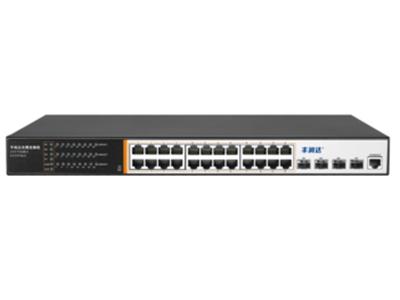 丰润达 S5700-24G-4TF 万兆上联24口千兆三层管理型交换机 万兆上联、全千兆接入,配备24个千兆端口,4*10GE SFP+端口, 保证所有端口均可实现无阻塞线速转发,传输更流畅 强大业务管理能力:支持VLAN、汇聚、Q0S、ACL、IGMP、端口监控、三层路由器、DHCP等丰富业务功能,能满足中小企业、酒店及园区网络接入、汇聚应用场景 IPv6:支持IPV6  Ping、IPv6 Tracert、IPv6 Telnet IPV6 SSH IPv6 SSL 完备的安全防护:支持基于端口号、IP地址、MAC、Icmp-、DoS等安全防护,支持STP、RSTP