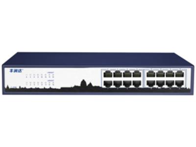 丰润达 NS6016G 16口千兆以太网交换机 16个10/100/1000M自适应RJ45端口 所有端口均具备线速转发能力 支持端口自动翻转(Auto MDI/MDIX)功能 支持MAC地址自学习;支持全双工工作模式 即插即用,无需管理,可上机架