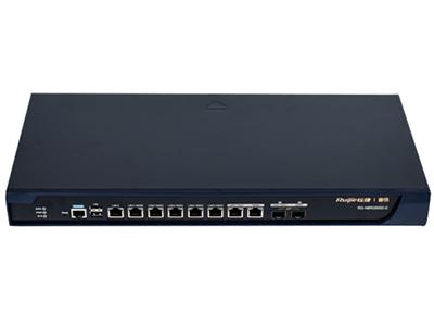 锐捷(Ruijie) RG-NBR2500D-E 8千兆电口(7WAN/1LAN)+2个千兆复用光口,2个USB端口,200兆带宽,600人以下中小企业,支持500G硬盘,可管理64个RAP系列普通AP或128个RAP系列wall ap