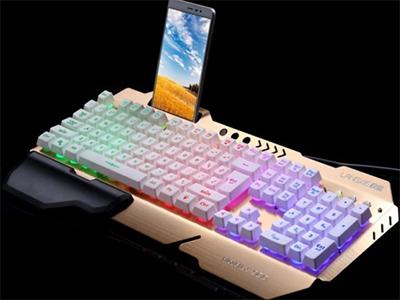 名雕 KB-800 铝合金键盘,悬浮键帽,字体发光,网吧专供 铝合金键盘,悬浮键帽,字体发光,网吧专供
