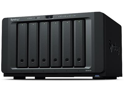 DiskStation DS1618+ CPU四核 2.1GHz  RAM 选项 4GB DDR4 SO-DIMM(可扩充到 32GB) 高性能 每秒 2,037 MB 的连续读取速度 RAID 类型 更灵活的 RAID 配置